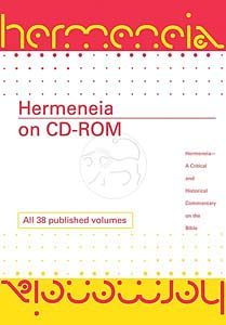 Hermeneia on CD-ROM, Library Edition (4 simultaneous users): A Critical and Historical Commentary on the Bible